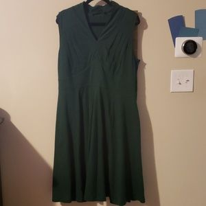 Hunter green Eshakti dress NWOT